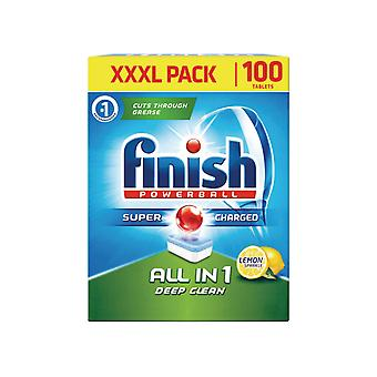 Reckitts Finish All In 1 Deep Clean Lemon x 100 RB789407