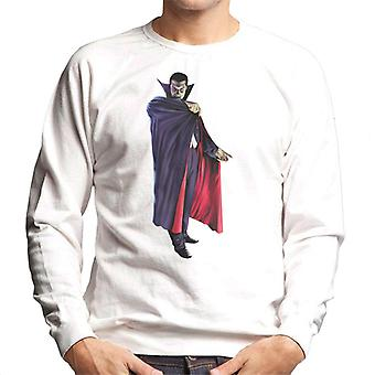 Dracula Cape Pose Men's Sweatshirt