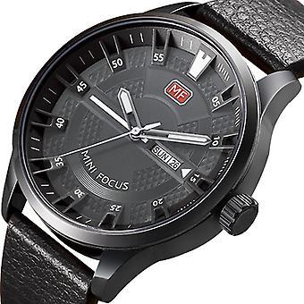 MINI FOCUS MF0028G Casual Style Heren Polshorloge Display Datum en Week Clock