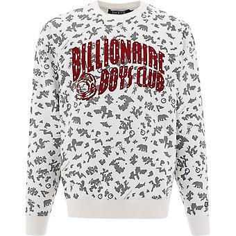 Billionaire B20434white Men's White Cotton Sweatshirt