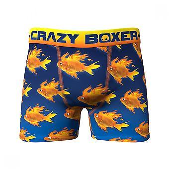 Gold Fish All Over Print Men's Underwear Boxer Briefs