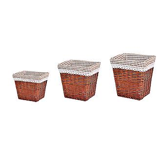 Woven wicker storage basket, a household toy storage box for cabinet drawers