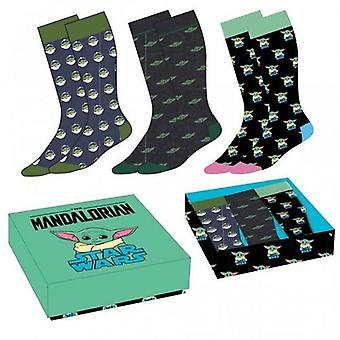 Star Wars The Mandalorian 3pk Socks Gift Box