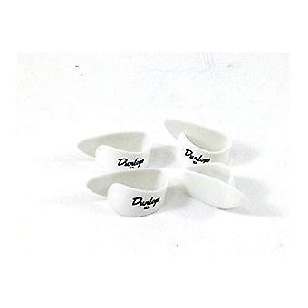 Dunlop thumbpicks en plastique blanc ex grand - 4 picks player pack 4 sélections