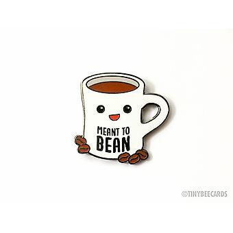 Spilla di smalto duro per caffè destinata al fagioli