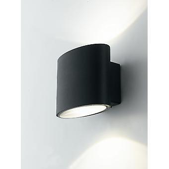 Fan Europe Boxter - Outdoor Integrated LED Up Down Wall Light, Noir, IP44, 4000K