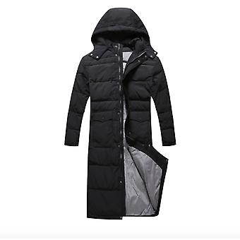 Lengthened Down Jacket Men Thickened Over The Knee Winter Jacket Coat Plus Fat To Increase Down Jacket Men's Plus Size