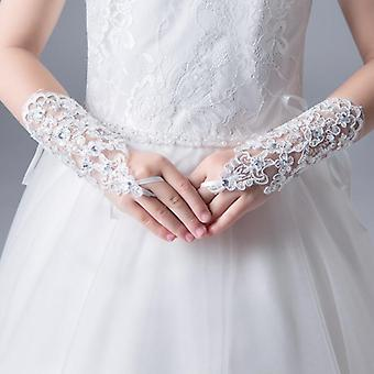 Fashion Beauty Fingerless Wedding Gloves Lace For Wedding Accessories