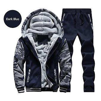 Winter Coat Men Casual Inner Fleece Thick Hooded Parka Clothing Brand