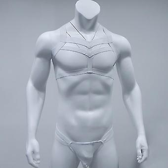 Men Bondage Costume Lingerie Body Chest Harness Halter Neck Nightclub Clothing