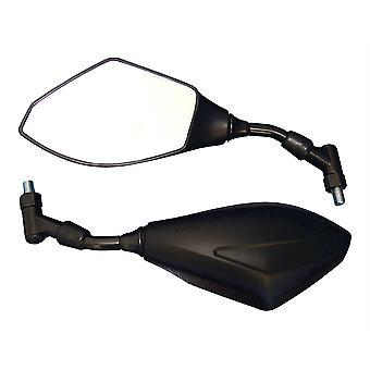 Bike It Universal Bar Mounted Motorcycle Mirrors Black With 10mm Thread U012