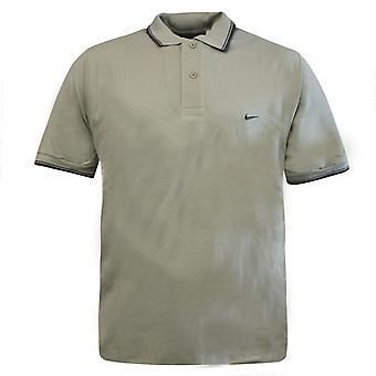 Nike Sandy Bege 2 Homens Abotoados Tee Top Polo Camisa 172495 111 KB3