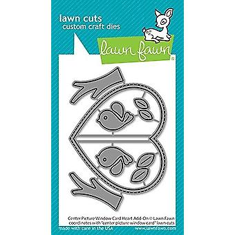 Lawn Fawn Center Picture Window Card Heart Add-On Dies