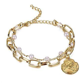 Bracelet vintage de perle de fleur