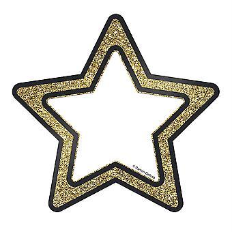 Funkeln + Glanz Gold Glitter Sterne Ausschnitte, Packung mit 36