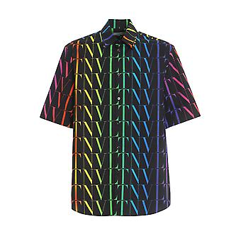 Valentino Vv3aab756g520k Men's Multicolor Cotton Shirt