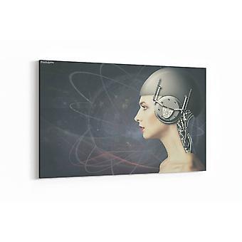 Schilderij - Cyborg woman — 90x60cm