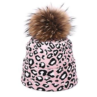 Winter Women Pompon Beanie Hat Scarf Set