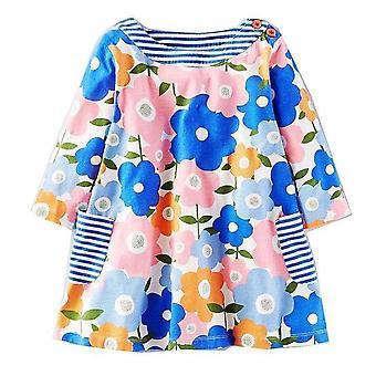 שרוול ארוך הנסיכה טוניקה ג'רזי שמלת, עיצוב דייזי גדול, תינוק
