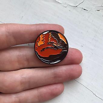 Mars Enamel Pin
