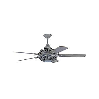 """Ceiling Fan Santa Pepeo washed grey 132 cm / 52"""" with remote control"""