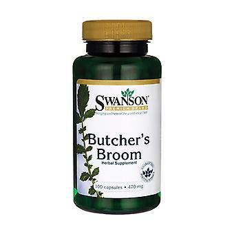 Butcher's Broom, 470mg 100 capsules