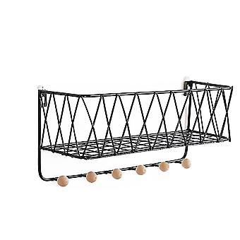 veggfeste arrangør rutenett wire oppbevaring hylle rack med krok