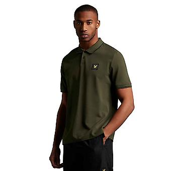 Lyle & Scott Casuals Tipped Polo Shirt - Trek Green