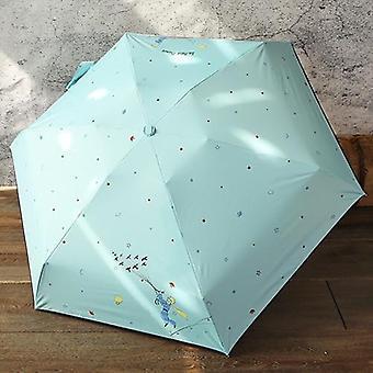 Cartoon Umbrella Rain Women Folding Female Sunny Parasol Lovely Mini Pocket