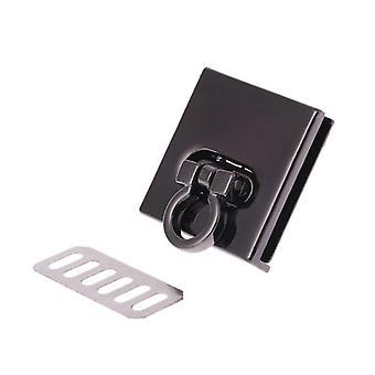 Metalllås runt rektangelväska hölje spänne lås