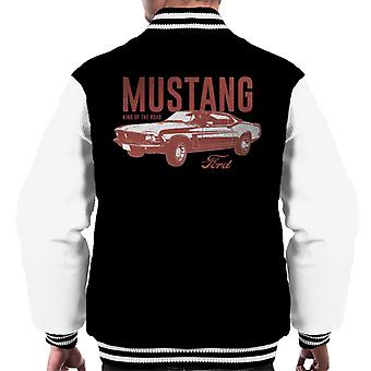 Ford Mustang King Of The Road Men's Varsity Jacket