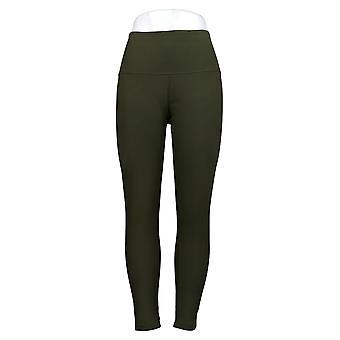 Kvinder med kontrol Leggings Regelmæssig Reversible Ingen Side Seam Grøn A384086