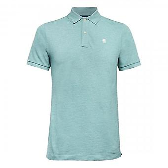 G-Star Dunda Slim Fit Polo T-Shirt Teal Blue D11595