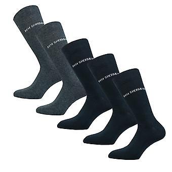 Men's Ben Sherman Hedgehunter 5 Pack Socks in Blue