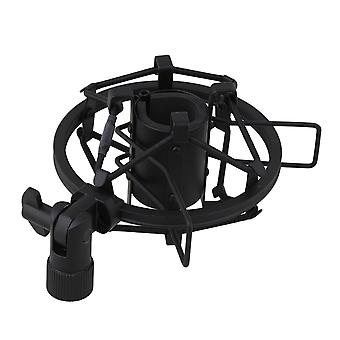 Zwarte ophanging Shock Mount Fit Shotgun Pencil Microfoon Rod Spider 5/8 draad