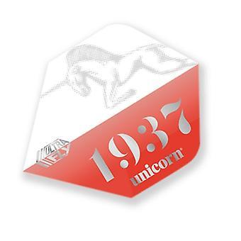 Unicorn Darts Ultra Fly.100 PLUS Shape Micron Dart Flight - Icon Red