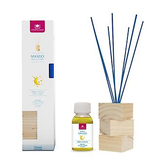 Complete kit natural wood baby and cologne reeds + essence + wooden base 2 units