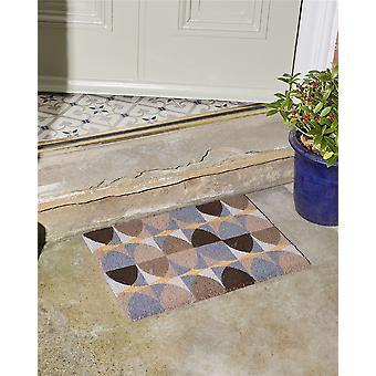 Stolz auf den Platz Astley gedruckt Coir Fußmatte mit PVC-Backing non - Slip wasserdicht Geo Kreise Design 40 x 60cm