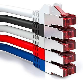 FengChun 5X 2m CAT6 Patchkabel S/FTP PIMF Schirmung CAT-6 RJ45 Netzwerkkabel Ethernetkabel LAN DSL