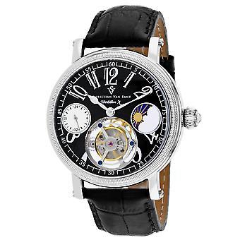 Christian Van Sant Men's Tourbillon X Limited Edition Black Dial Watch - CV0994