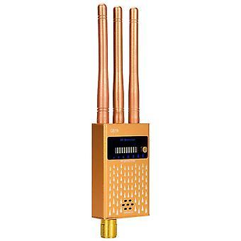 RF Signal Detector, Wireless Bug Detector Signal Device Finder Radar Radio Scanner Wireless Signal Alarm for GPS Tracker Hidden Camera Listening Device Signal Detector (black)