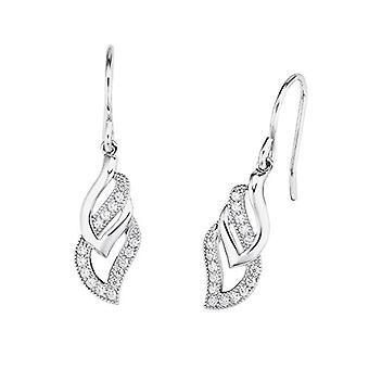 kjærlighet pendel og slipp øredobber sølv kvinne - 9963713