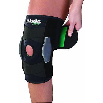 Mueller Green Adjustable Hinged Knee Brace - Black