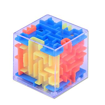 3d Maze Magic Cube Transparent Six-sided Puzzle Speed Cube Rolling Ball Game Cubos Maze Toys For Children Educational