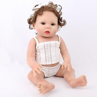 17 Inch abcde made vinyl silicone realistic girl dolls pl-795