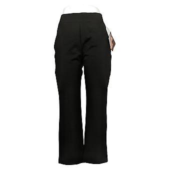 IMAN Global Chic Pantalones de Mujer Petite 360 Bootcut Negro 722609001