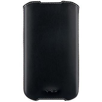 Vicioso y divino chaleco suave de cuero superior para Samsung Galaxy SIIi / S4 y otros dispositivos extra grandes