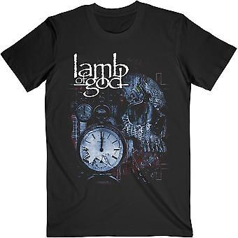 Agnello di Dio - Circuitry Skull Ricolora Unisex Large T-Shirt - Nero