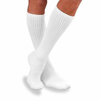 Jobst Diabetic Compression Socks X Large, White 2 Pairs