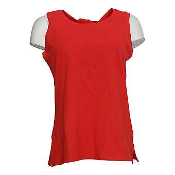 Denim &co. kvinners topp teksturert strikket tank vridd tilbake oransje a378146